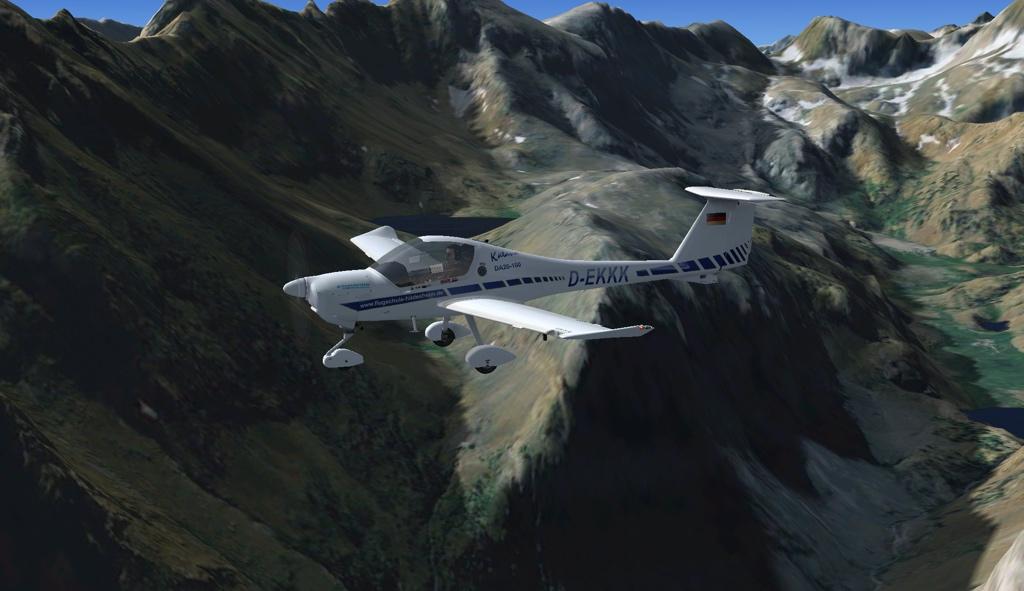 Die Diamond DA20 Katana für den Flugsimulator
