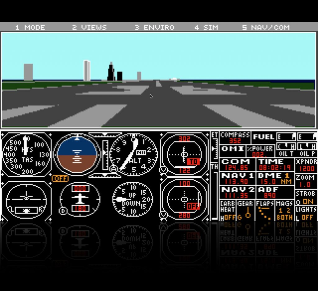 Microsoft Flight Simulator 3 Learjet Cockpit