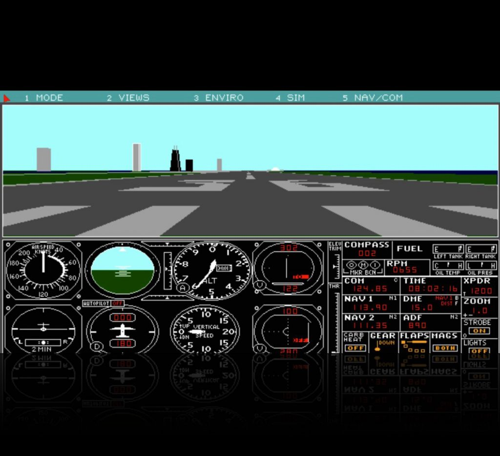 Microsoft Flight Simulator 3 VGA-Screenshot